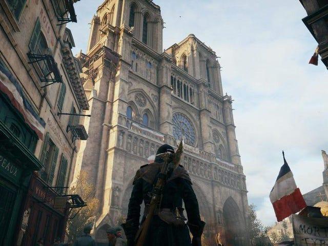 Steam-käyttäjät Flood <i>Assassin's Creed Unity</i> positiivisten arvion perusteella Ubisoftin Notre-Dame-ponnisteluista