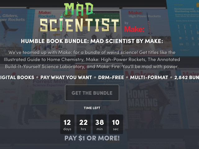 Scratch Your DIY Itch With Humble's Mad Scientist Ebook Bundle