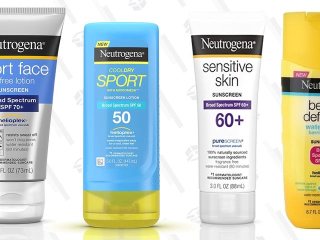 Take Your Pick of Neutrogena Sunscreen With This Amazon Coupon