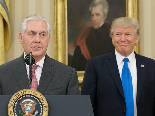 Rex Tillerson Calls the President a Dumbass. Trump Calls Tillerson a Lazy Bitch