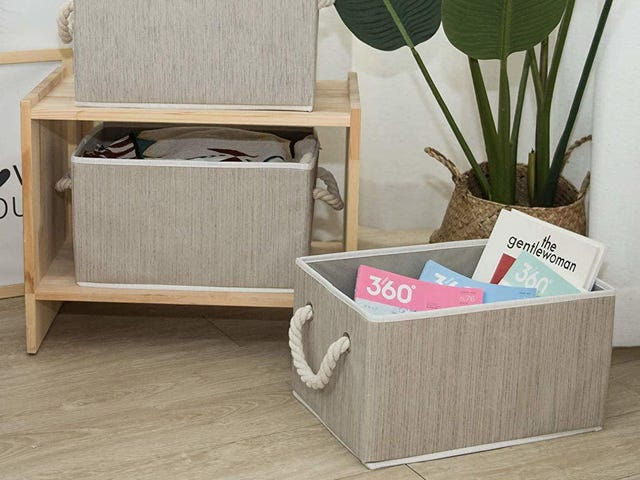Store Your Crap In Style With Three Pinterest-Ready Bins For Just $13