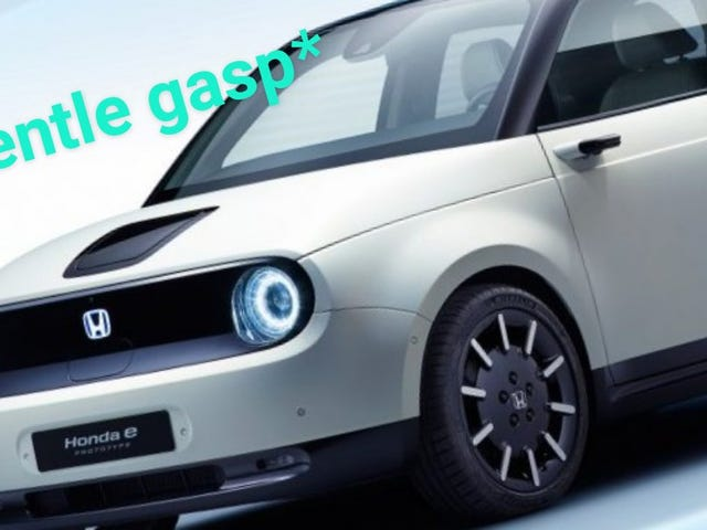Honda e nguyên mẫu thông báo u nhìn chằm chằm