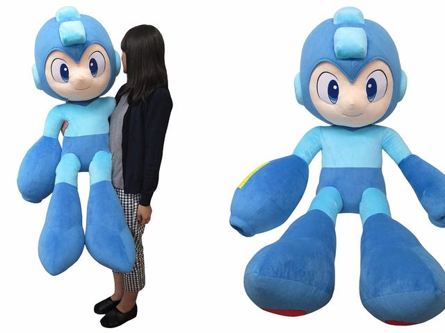 A Life-Sized Mega Man Plush Toy For $290