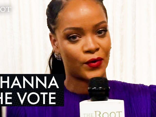 Рианна хочет, чтобы люди знали, что мы должны использовать наши голоса