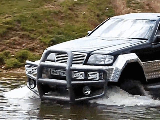 """Це Mercedes S-клас на російській """"GAZ"""" каркас є Off-Road Франкенштейна світ потребує"""