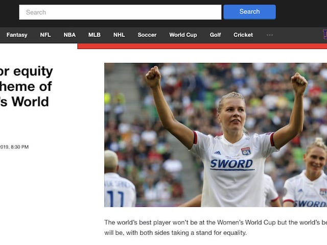 Verizon Media Group CEO Praises Yahoo Sports' Important Coverage, Like This Syndicated Wire Story
