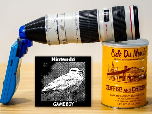 Genius Photography Hacker Makes Adapter to Attach Giant Zoom Lenses to the Game Boy Camera