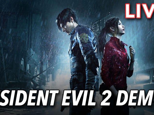 """Ethan e eu estamos tocando a demo do Resident Evil 2 Remake """"One Shot"""" agora no Twitch.  Isso não é o que eu esperava no meu primeiro ..."""