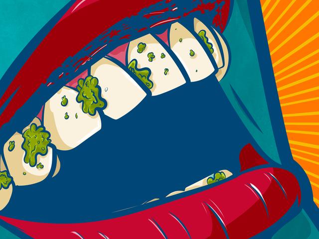 Miten kiihkeästi kertoa jollekin, että heidän hampaissaan on paska