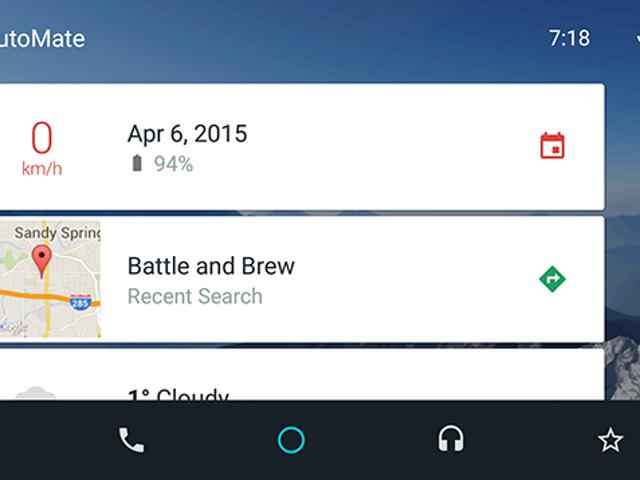 AutoMate transforme votre téléphone en un tableau de bord de style automatique Android