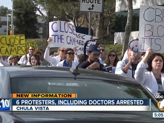 Doctors Arrested After Protesting the Right to Administer Flu Vaccinations to Detained Migrant Children