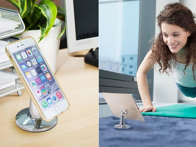This $12 Desk Stand Holds Your Phone With the Power of Magnets
