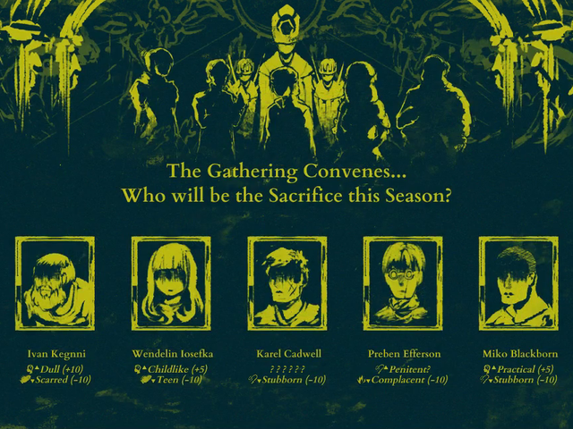 A Cult Simulator Where You Sacrifice People To A Lovecraftian God