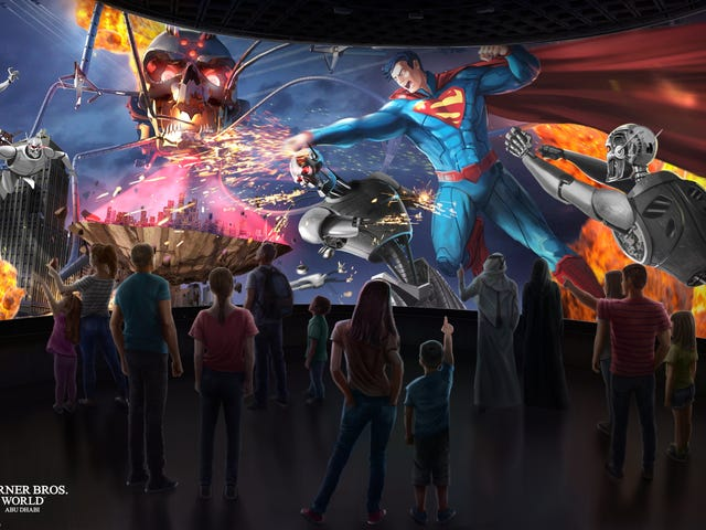 Warner Bros.' Abu Dhabi Theme Park Is Going to Have Some Wild Superhero Rides