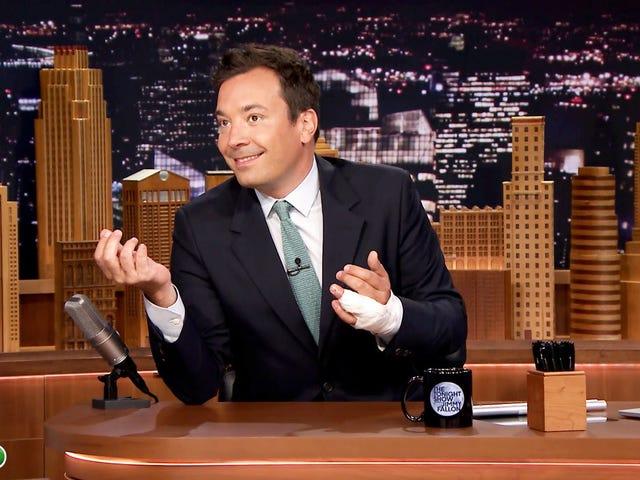 Jimmy Fallon selitti lopuksi mitä helvetti tapahtui hänen sormellaan