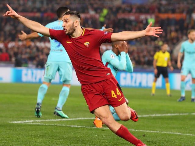 Här är What Roma's Barcelona-Beating Goal lät som på italiensk tv