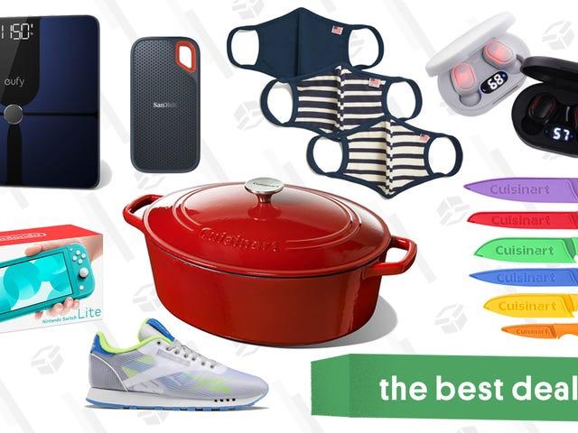 Çarşamba Gününün En İyi Fırsatları: Nintendo Switch Lite, Eufy P1 Akıllı Tartı, Everlane Overstock Satış, Cuisinart Hollandalı Fırınlar ve Fritözler ve Daha Fazlası