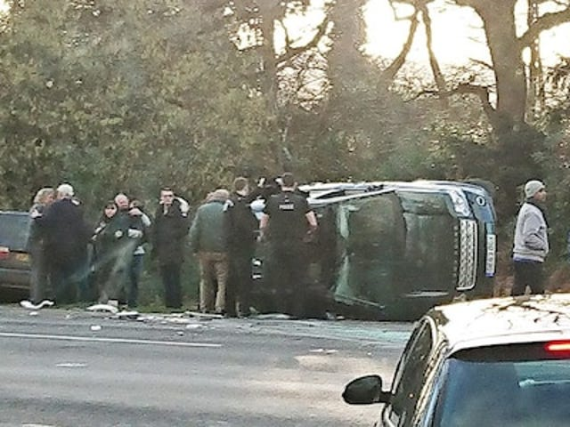 The Duke of Edinburgh has just been involved in a road traffic accident.
