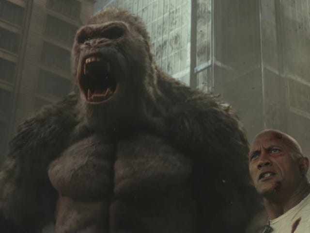 The New Rampage Trailer Sees the Rock Adorably Concerned About His Gorilla Friend