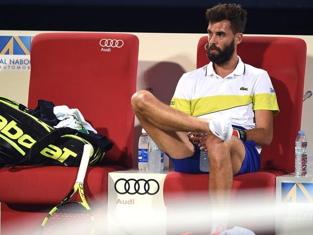 Il tennista francese Benoit Paire è un esperto di racchette da tennis favolose