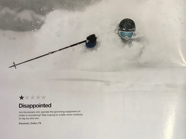 What a terrible day at Snowbird, 1/5 Stars!