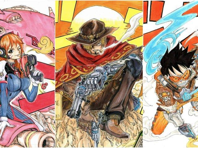 Khi <i>One Piece</i> gặp <i>Overwatch</i> trong Fan Art