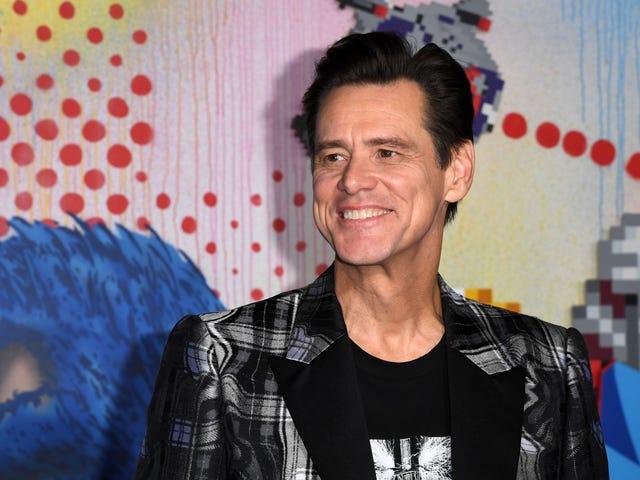 Jim Carrey, aktor drugoplanowy z Sonic the Hedgehog, zwraca uwagę przerażającą uwagę na niczego niepodejrzewającego dziennikarza