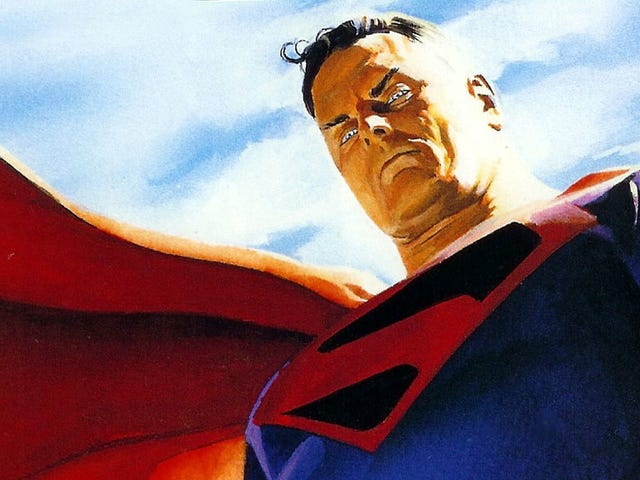 Alex Ross dessine Brandon Routh dans le rôle de Kingdom Come Superman