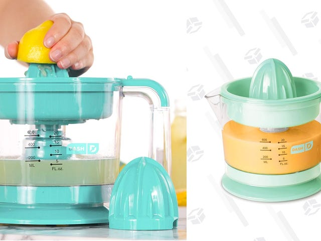Make Fresh Squeezed Orange Juice With This Discounted Dash Citrus Juicer