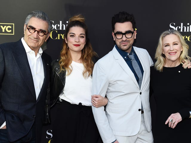 The Cast of Schitt's Creek Really Raided the Props Department