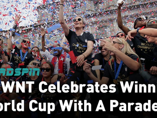 The USWNT Put On A Show At Today's Victory Parade