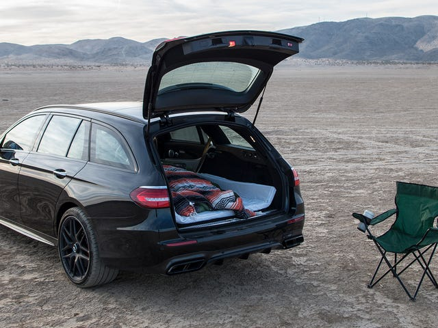 What It's Like To Sleep In A $130,000 Mercedes-AMG Wagon