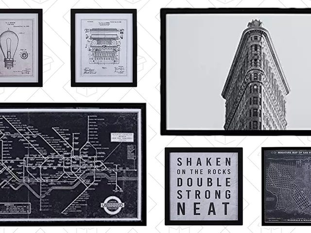 Save Some Green On This Black & White Wall Art From Amazon