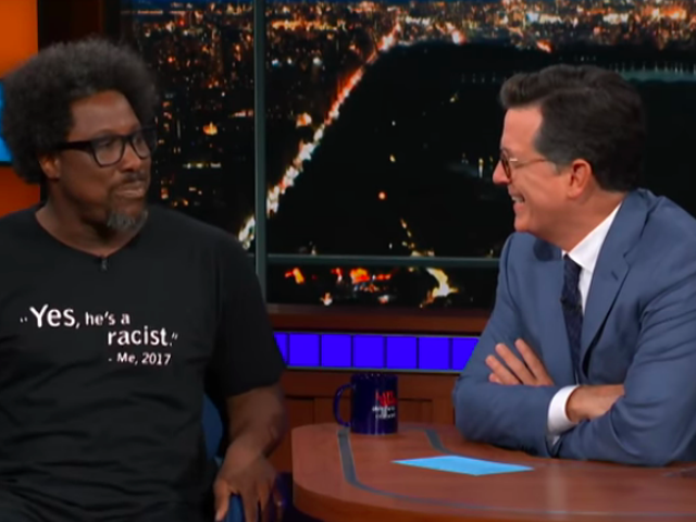 "Late-night guests Tom Arnold and W. Kamau Bell differ on Trump's ""n-word"" tape"