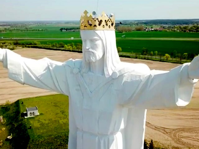 An Enormous Statue of Jesus in Poland Just Got Internet Antennas and No One's Sure Why