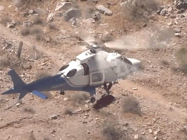 Cứu hộ máy bay trực thăng nhanh chóng trở thành Carnival Ride từ địa ngục