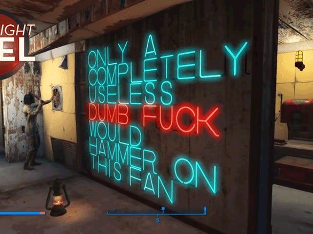 <i>Fallout 4</i> oyuncu mükemmel işareti yapar