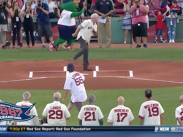 Errant First Pitch At Red Sox Game Nails Photographer In The Dick And Balls