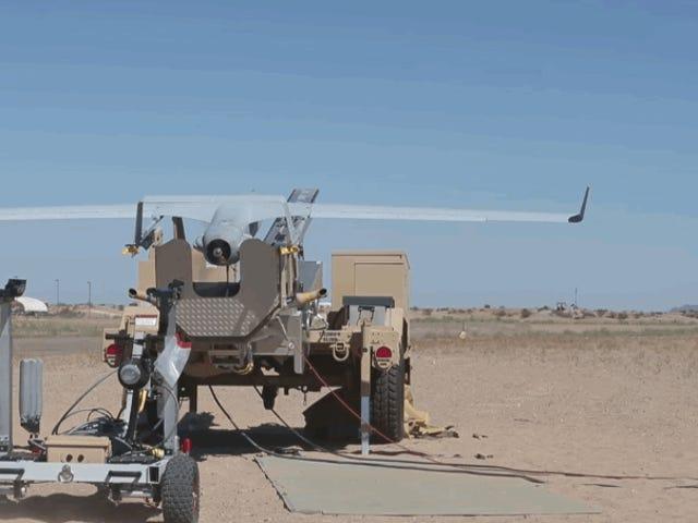 Som funkiona el sistema de los marines till de äldre drones que cuestan millones usando solo una cuerda