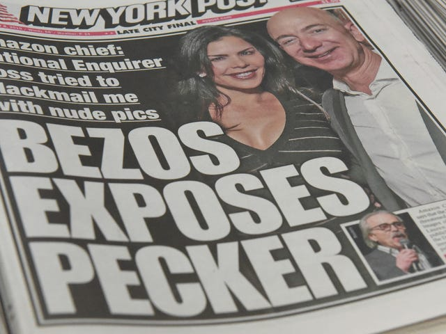 National Enquirer Reportedly Paid $200K to Torture Us With Jeff Bezos's Dick Pics