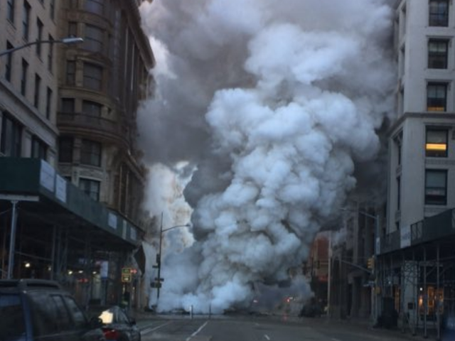 Huge Pipe Explosion Just Left a Crater in New York City Street (Updated)
