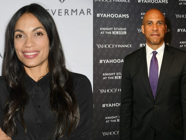 Rosario Dawson Allegedly Sang 'I Love You' to Cory Booker, Which Is Fine