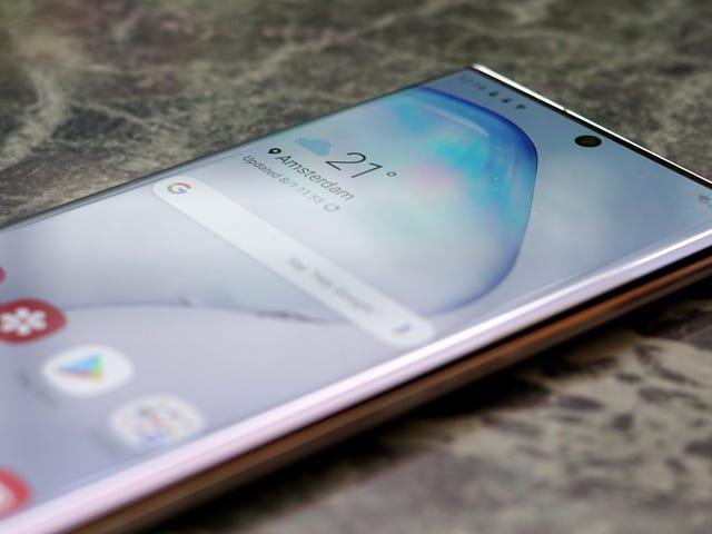 Samsung forklarer, hvordan man undgår fejl i fingeraftrykssensoren på Galaxy S10 og Note10