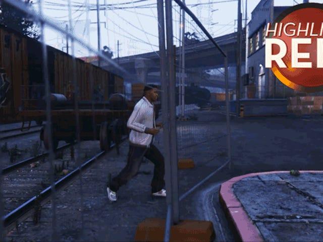 <i>GTA V</i>的富兰克林无法通过围栏
