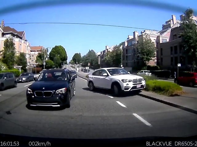 This dashcam video shows how close Canada was to becoming a slightly better place...without another BMW Sports Utility Coupe