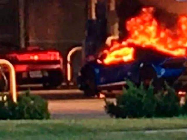 Lamborghini Huracan Performante Burns In Absurd St. Louis Gas Station Mishap
