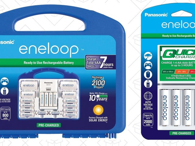 Power All of Your New Toys With Discounts On the Best Rechargeable Batteries