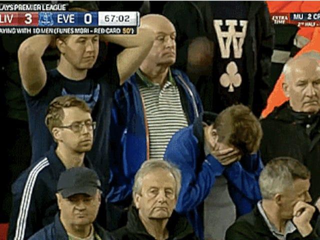 Liverpool Hulk Ezilmiş Everton