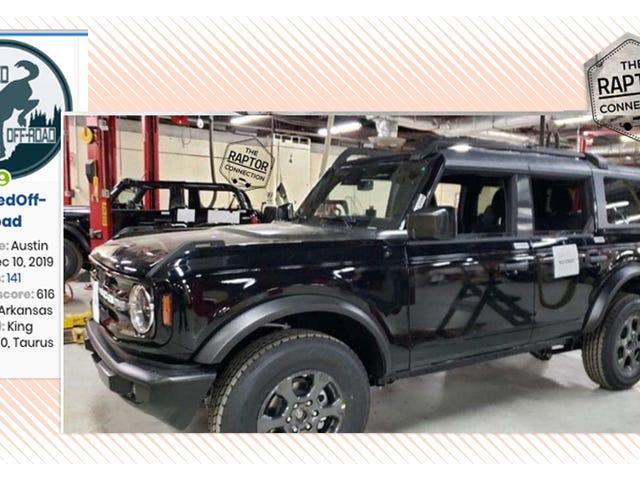 De 2021 Ford Bronco heeft een cool imperiaal en meer details in nog een ander lek