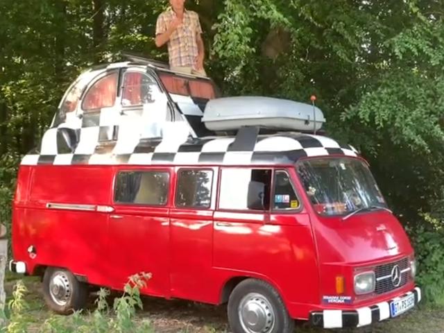 My distant cousin's Mercedes/2CV custom van